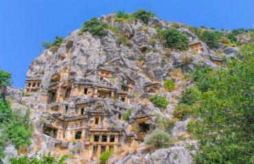 Lycian Rock tombs in Myra, Demre