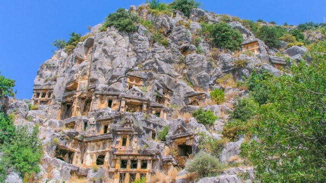 Lycian Rock tombs in Myra, Demre