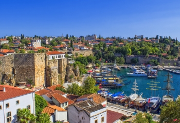 Harbor in old town Kaleici - Antalya, Turkey